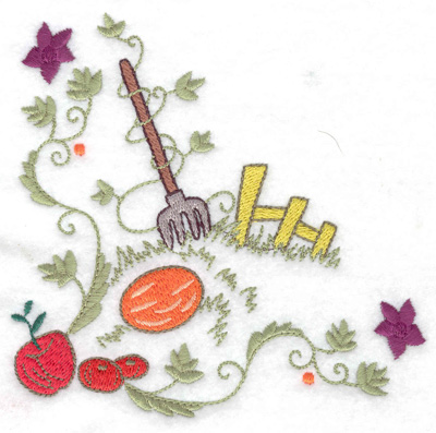Embroidery Design: Fall harvest 4.97w X 4.79h