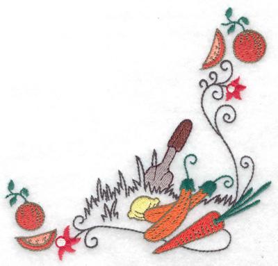 Embroidery Design: Harvest corner 4.94w X 4.74h