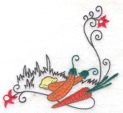 Embroidery Design: Harvest corner small 3.87w X 3.74h
