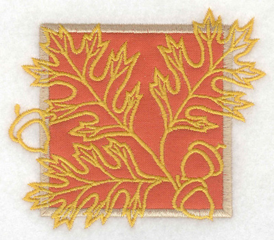 Embroidery Design: Oak leaves with acorns small applique 3.89w X 3.37h