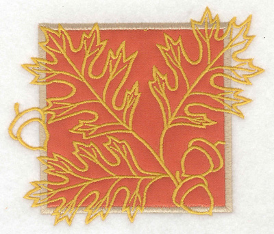 Embroidery Design: Oak leaves with acorns large applique 4.98w X 4.27h