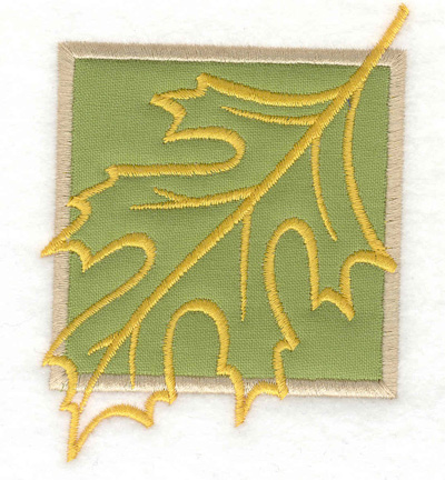 Embroidery Design: Leaf applique small 3.89w X 3.01h