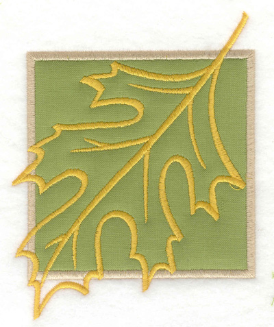 Embroidery Design: Leaf applique large  4.98w X 3.96h