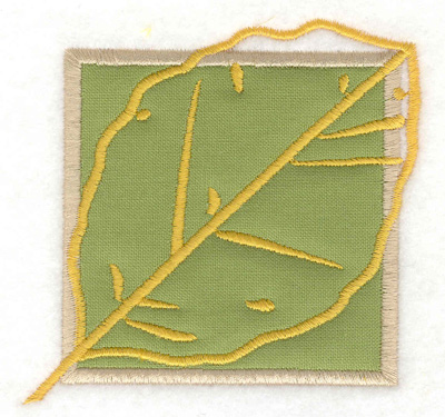 Embroidery Design: Birch leaf applique small 3.41w X 3.37h
