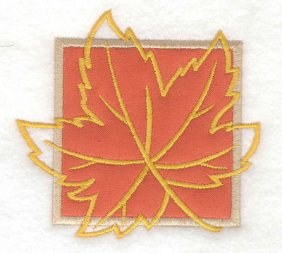 Embroidery Design: Maple leaf applique small 3.80w X 3.57h