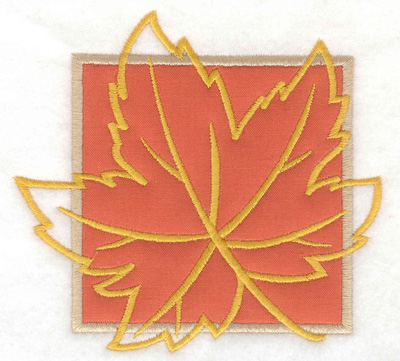 Embroidery Design: Maple leaf applique large 4.86w X 4.57h