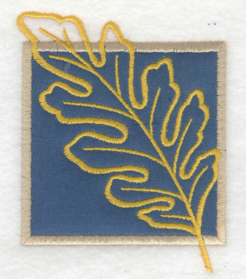 Embroidery Design: Oak leaf applique small 3.70w X 2.99h