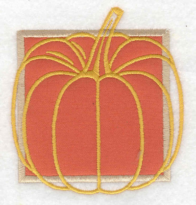 Embroidery Design: Pumpkin applique small 3.29w X 3.57h