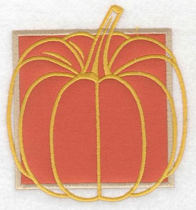 Embroidery Design: Pumpkin applique large 4.23w X 4.58h