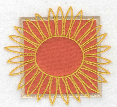 Embroidery Design: Sunflower applique small 3.89w X 3.59h