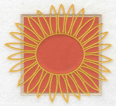Embroidery Design: Sunflower applique large 4.97w X 4.57h