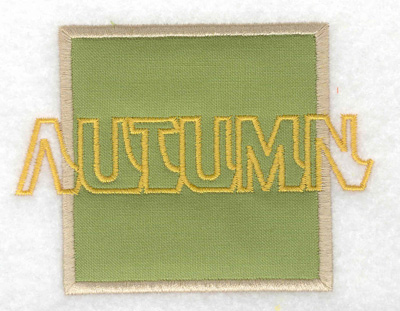 Embroidery Design: Autumn applique small 3.89w X 2.91h