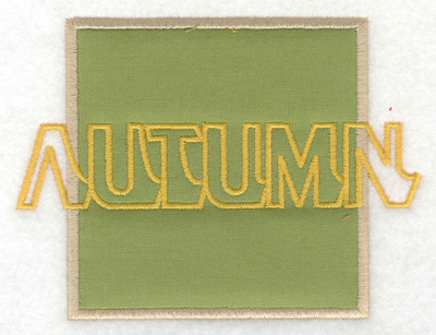 Embroidery Design: Autumn applique large 4.99w X 3.71h