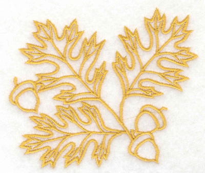 Embroidery Design: Oak leaves and acorns 3.89w X 3.37h