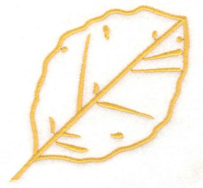 Embroidery Design: Birch leaf 3.41w X 3.37h