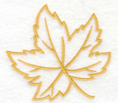Embroidery Design: Maple leaf 3.80w X 3.57h