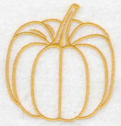 Embroidery Design: Pumpkin 3.29w X 3.57h
