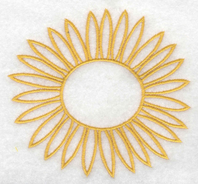 Embroidery Design: Sunflower 3.89w X 3.59h