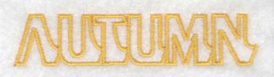 Embroidery Design: Autumn text small 3.89w X 0.84h