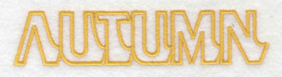 Embroidery Design: Autumn text large 4.99w X 1.07h