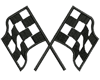 Embroidery Design: Racing Flags. 2.95w X 1.98h
