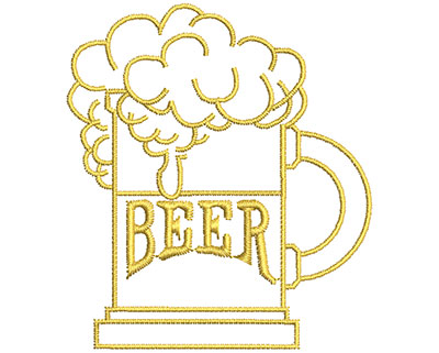 Embroidery Design: Beer Mug  2.26w X 2.56h