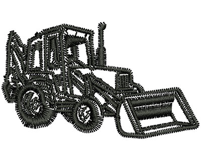 Embroidery Design: Bulldozer Outline 1.99w X 1.18h