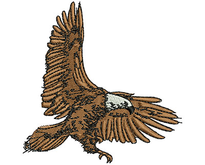 Embroidery Design: Flying Eagle 3.17w X 3.21h