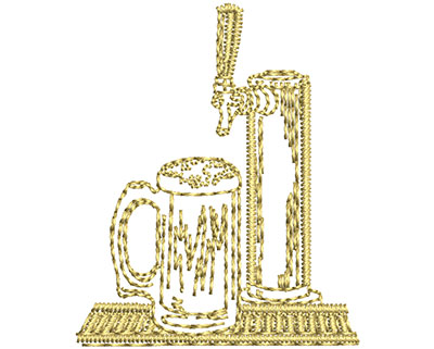 Embroidery Design: Beer On Tap 1.23w X 1.49h
