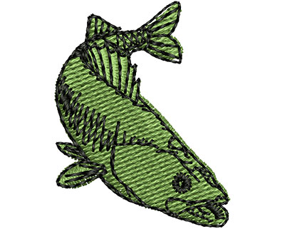 Embroidery Design: Bass Fish 0.94w X 1.20h