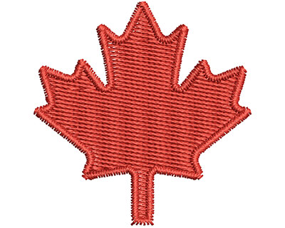 Embroidery Design: Canadian Leaf 1.48w X 1.53h