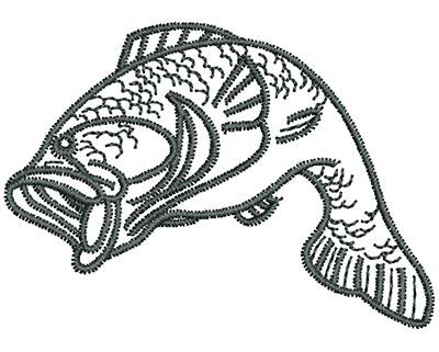 Embroidery Design: Fish  2.11w X 1.50h