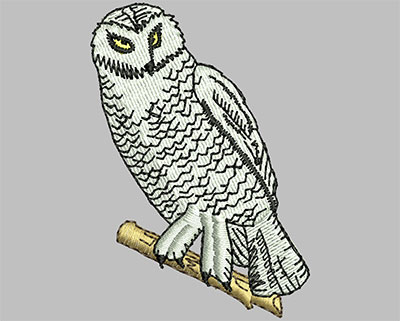 Embroidery Design: Owl On Branch 1.76w X 2.53h