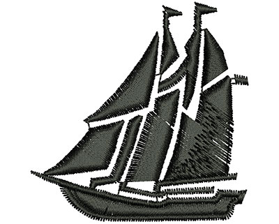 Embroidery Design: Sailboat Outline 1.76w X 1.78h
