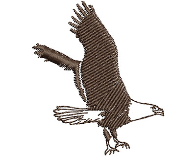 Embroidery Design: Flying Eagle 1.57w X 1.83h