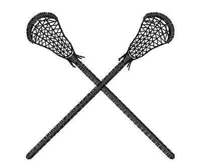 Embroidery Design: Lacrosse Sticks 2.39w X 2.37h