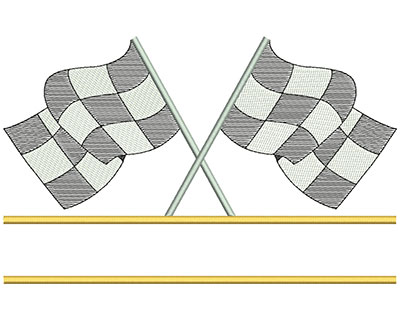 Embroidery Design: Racing Flags with Border 10.43w X 6.57h