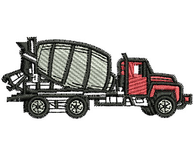 Embroidery Design: Concrete Truck 2.83w X 1.21h