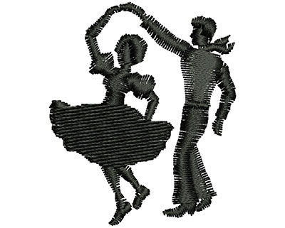 Embroidery Design: Dancing Couple 1.42w X 1.70h