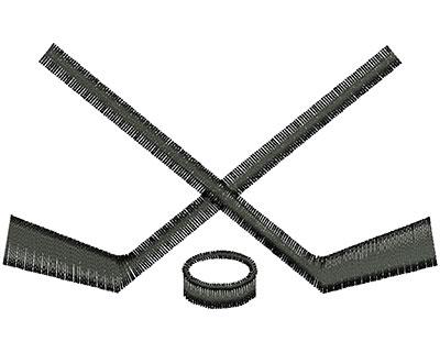 Embroidery Design: Hockey Sticks 3.39w X 2.08h