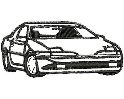 Embroidery Design: Car 2.69w X 1.25h