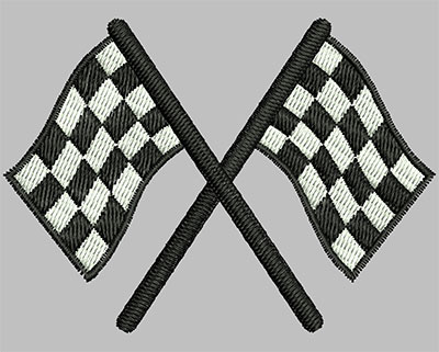 Embroidery Design: Racing Flags 2.90w X 2.11h
