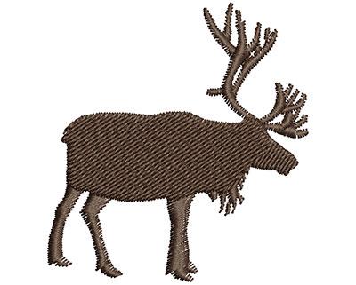 Embroidery Design: Moose  2.09w X 2.25h