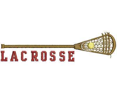 Embroidery Design: Lacrosse Stick  4.69w X 1.20h