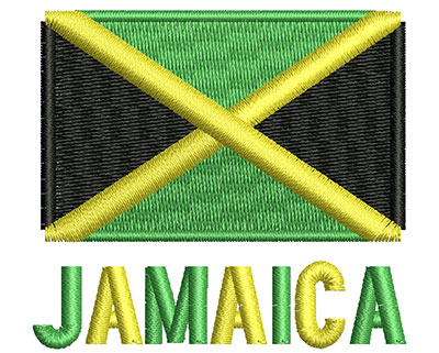 Embroidery Design: Jamaica Flag  2.07w X 1.87h