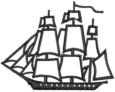 Embroidery Design: Pirate Ship 2.75w X 2.16h
