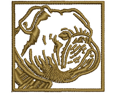 Embroidery Design: Bulldog Frame 1.56w X 1.53h
