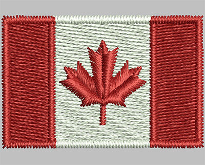 Embroidery Design: Canadian Flag 1.38w X 0.91h