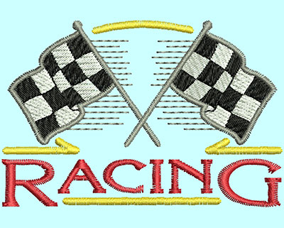 Embroidery Design: Racing Flags 2.98w X 1.99h