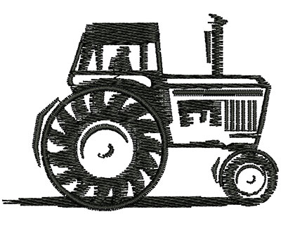 Embroidery Design: Farmer Tractor 2.39w X 1.71h
